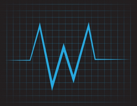 EKG grid with blue lines  Illustration