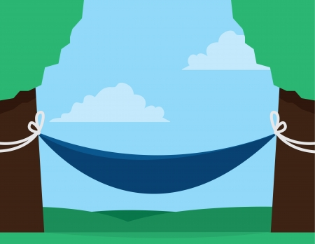 lounging: Hammock outside between two trees