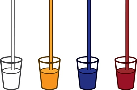 Drinks being poured in various colors  Vector