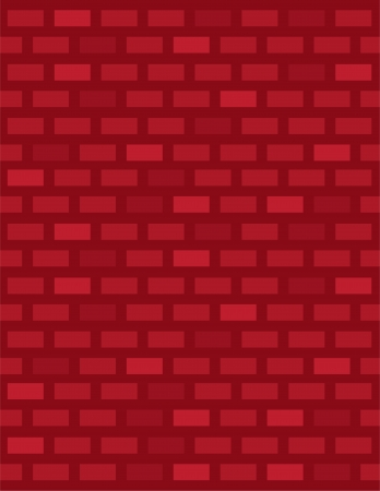 Red brick wall covering background