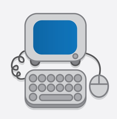 Computer icon with rounded corners  Vector