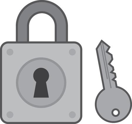 鍵穴とキー ロックします。  イラスト・ベクター素材