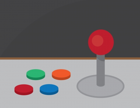distraction: Retro arcade joystick and buttons