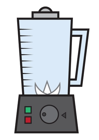 Large isolated empty electronic blender  Illustration