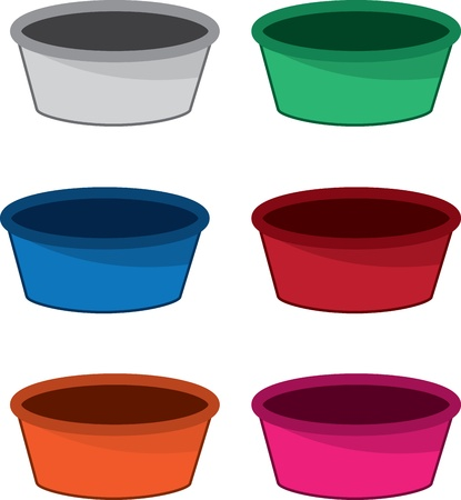 Empty bowl in various colors  Stock Vector - 21479549