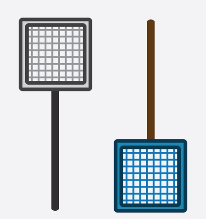exterminate: Two nets isolated gray and blue  Illustration