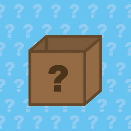 big boxes: Mystery box with question mark