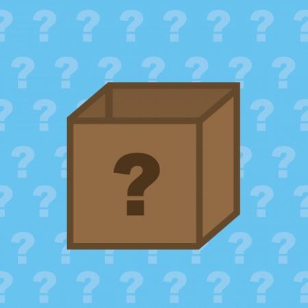 Mystery doos met vraagteken