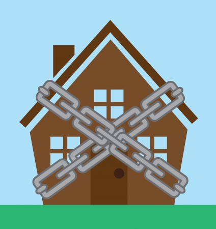 safe house: House enclosed in metal chains