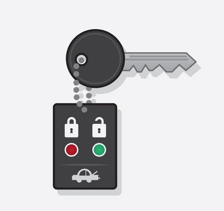 keyring: Key car chain with remote  Illustration