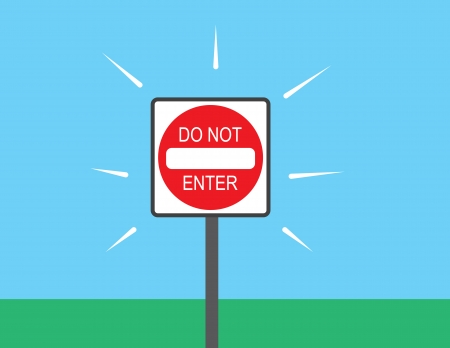 Do not enter sign placed outside Stock Vector - 23010591