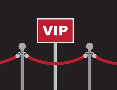 VIP sign with surrounding red rope