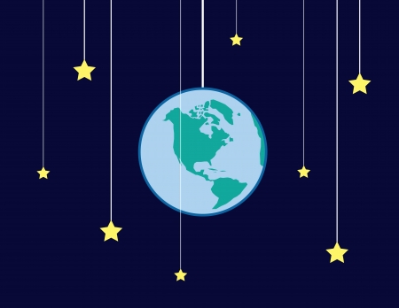circling: Earth and stars on strings