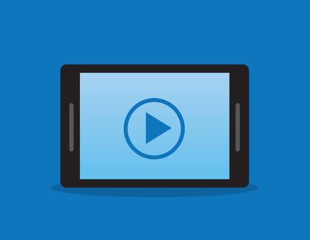 no cell: Del tel�fono o tableta con bot�n de reproducci�n Vectores