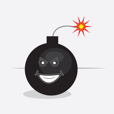 Lit bomb with cartoon face