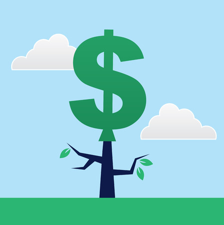 Tree with large dollar sign