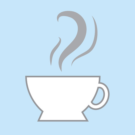 parched: Coffee cup icon with steam