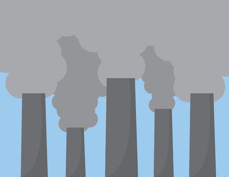 smoke stack: Le grandi ciminiere inquinanti cielo