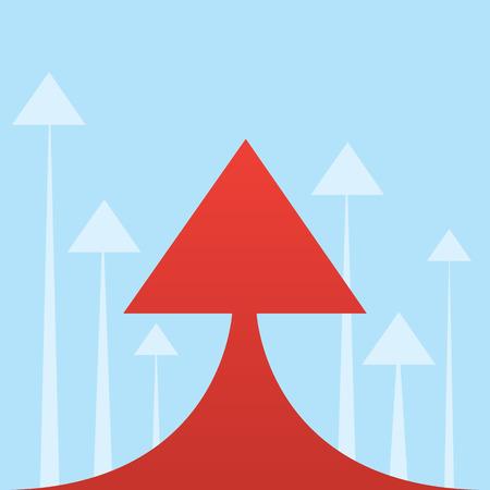 pointing up: Grande freccia rossa rivolta verso l'alto