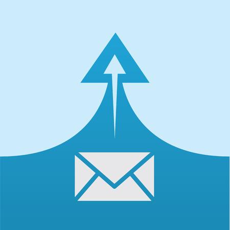 swoop: Sobre del correo con la flecha de enviar