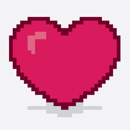 8 bit: Heart made out of large pixels