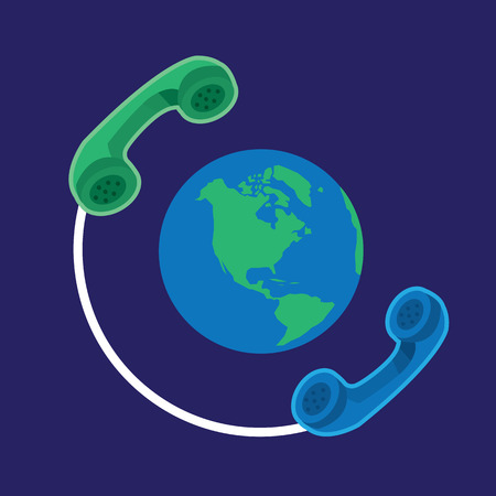 telephone line: Two phones connected around the earth