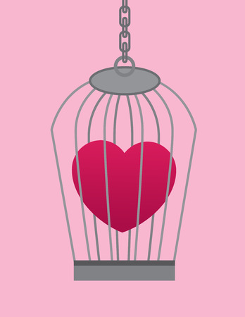 Heart symbol in a cage Vector