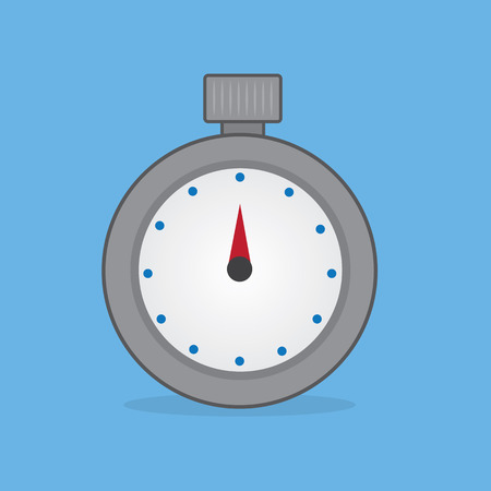 Stopwatch timer with blue background