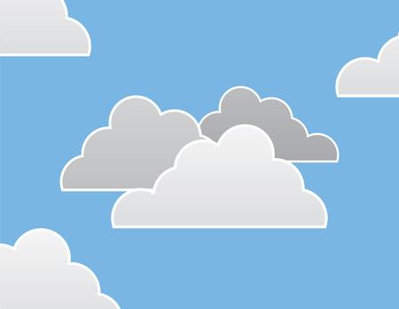 aerate: Gruppo di nuvole e sfondo blu