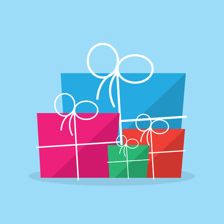 Package gift in different sizes and colors