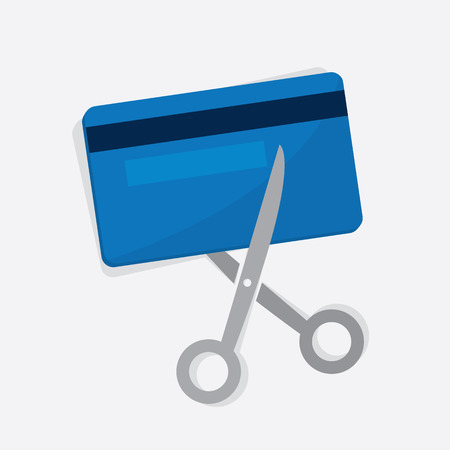 Credit card being cut with scissors