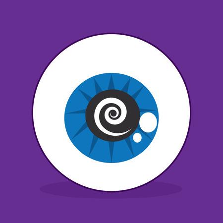 stumble: Eyeball with spiral in the iris