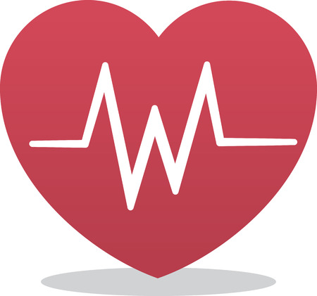 heart monitor: Heart icon with EKG symbol