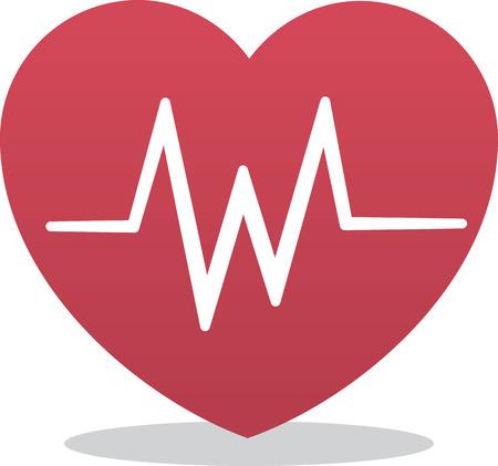Herz-Symbol mit EKG-Symbol Standard-Bild - 30495306
