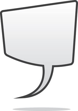 floating: Isolated blank floating speech bubble Illustration