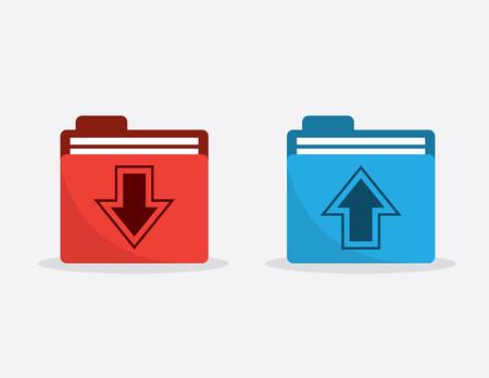 Download and upload arrow folders Illustration