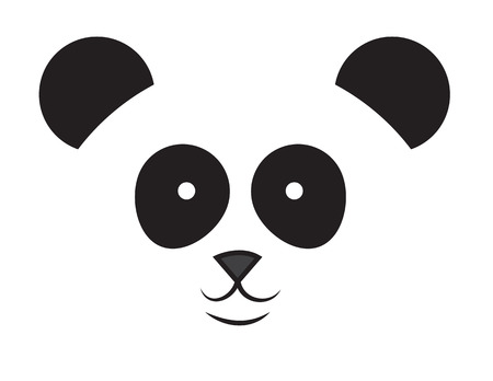 Large happy cartoon panda face