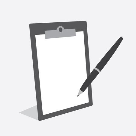 Blanco klembord met papier en pen
