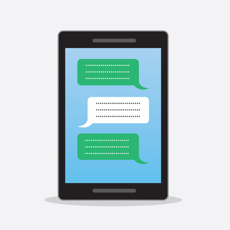 back and forth: Phone with text messages going back and forth Illustration
