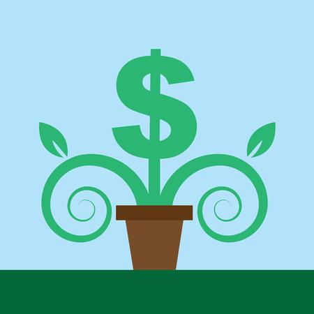 鉢植えな植物としてドル記号