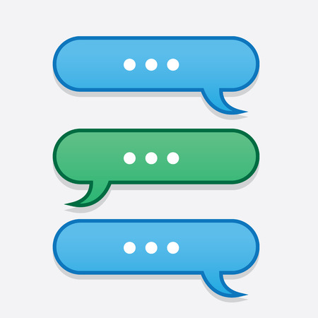 back and forth: Text messages bubbles going back and forth
