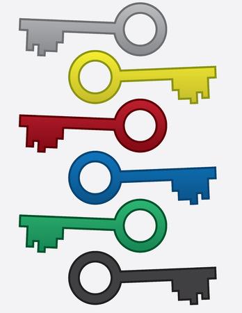 Key con anello in vari colori Archivio Fotografico - 36619823