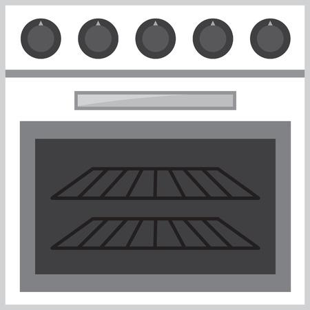 Oven stove with empty racks Ilustrace
