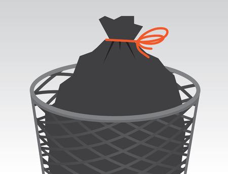 전선의 쓰레기 봉투가 묶일 수 있습니다.