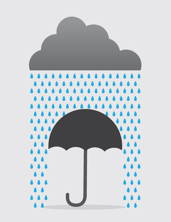Umbrella Stopping raindrops from cloud