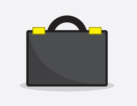 Black business briefcase icon illustration Illustration
