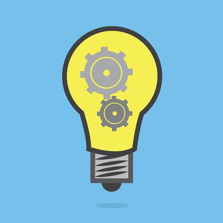 Light bulb with gears inside