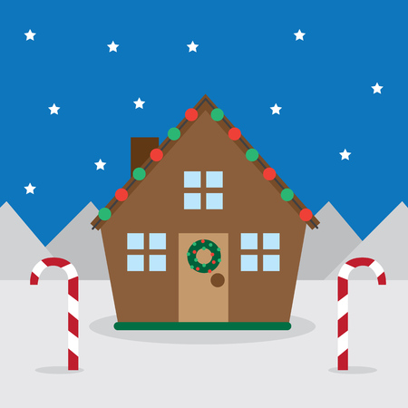 House with outdoor christmas decorations