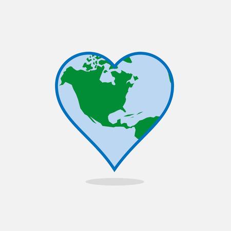 Aarde in de vorm van een hart