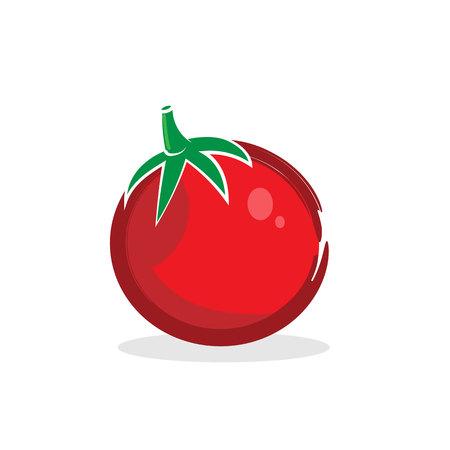 Red stylized tomato isolated illustration